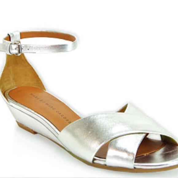 Kjc3fl1t By Marc Poshmark Jacobs Sandal Shoessilver Wedge ebE92YHIWD